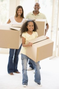 3486735 - family moving into new home smiling